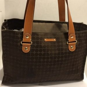 GentlyUsed Kate Spade Brown Fabric Shoulder Bag